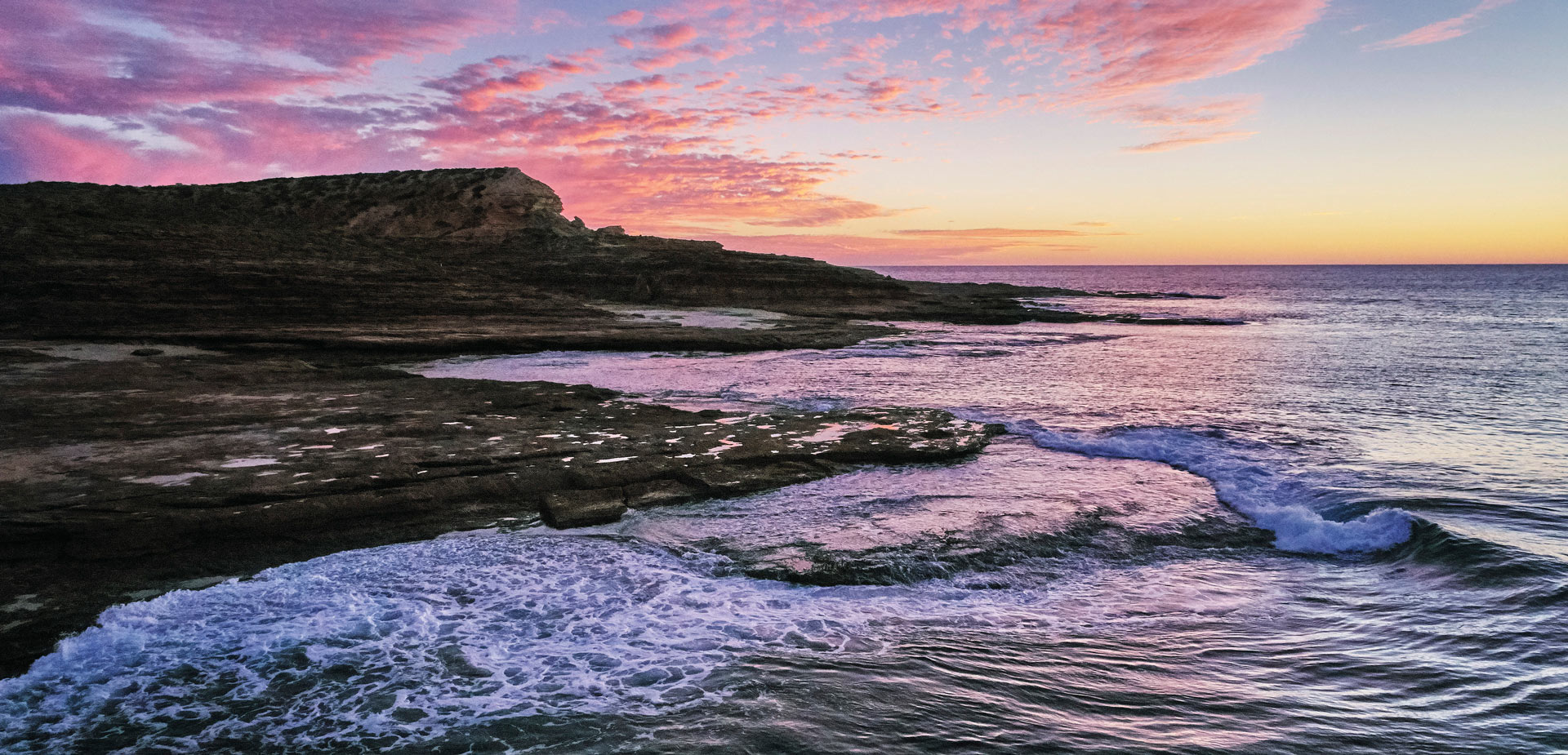 Sunset at Red Bluff, near Kalbarri