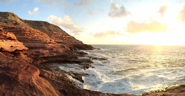 Kalbarri cliffs at sunset